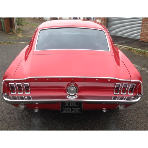 122 - 1967 Ford Mustang Registration No: XBL 282E...