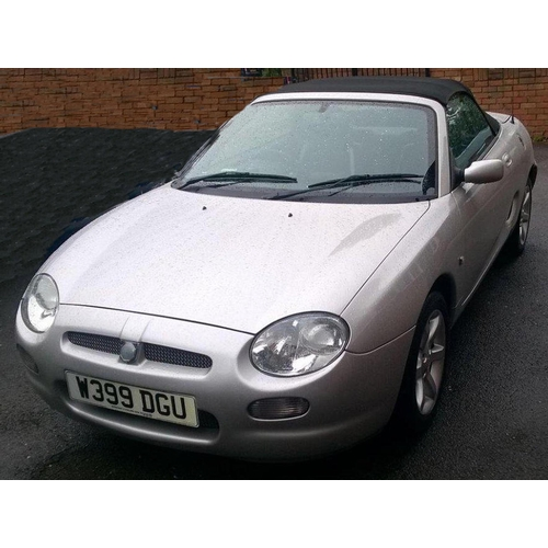 103 - 2000 MG MGF Registration No: W399DGU...