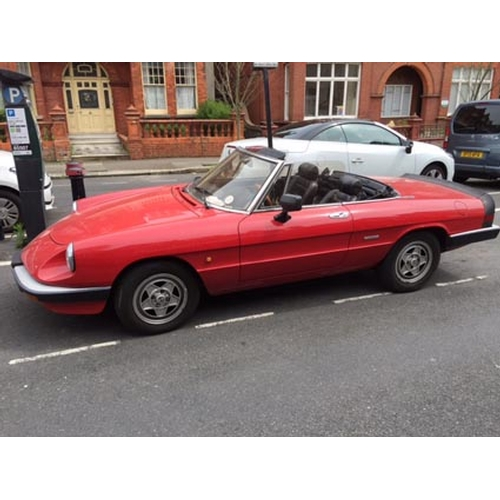 119 - 1986 Alfa Romeo Spider Registration No: C508 XLO...