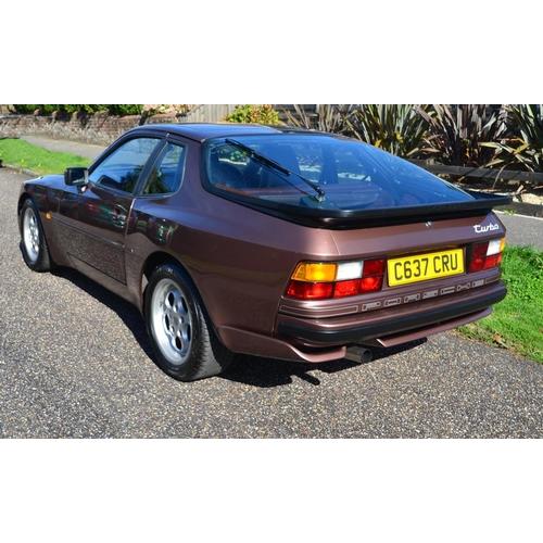 130 - 1986 Porsche 944 turbo Registration No: C637 CRU...