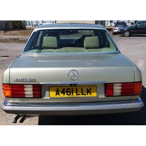 149 - 1984 Mercedes 380SE Registration No: A461LLK...