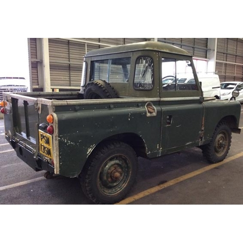 1973 Land Rover Series 3 Hard Top Pickup Registration No