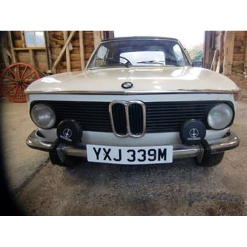 133 - 1973 BMW 2002 BAUR CONVERTIBLE REGISTRATION NO: YXJ 339M...