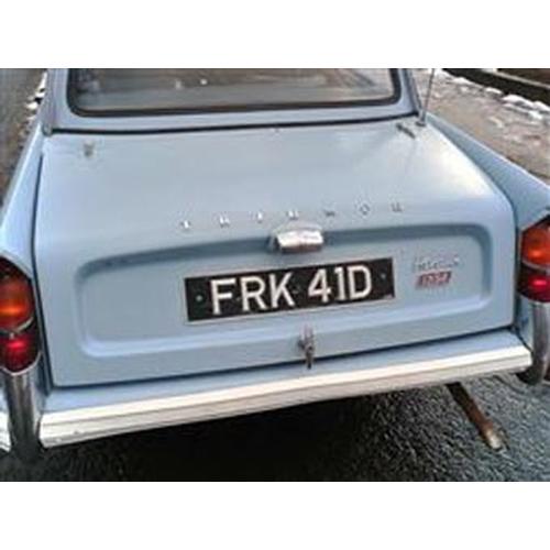 108 - 1966 TRIUMPH HERALD 12/50 REGISTRATION NO: FRK 41D...