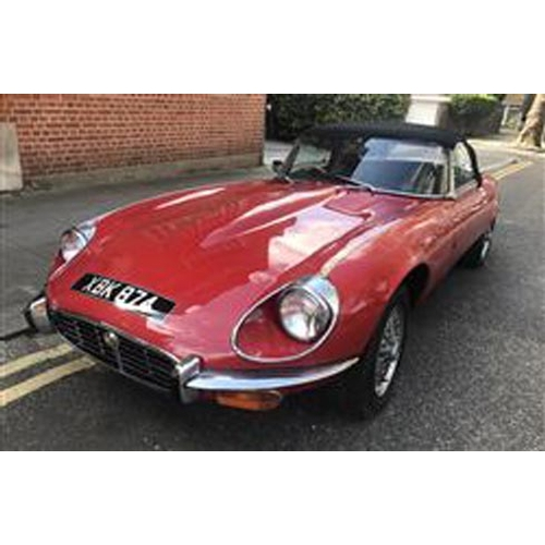 124 - 1972 JAGUAR E-TYPE CONVERTIBLE V12 REGISTRATION NO: XBK 874...