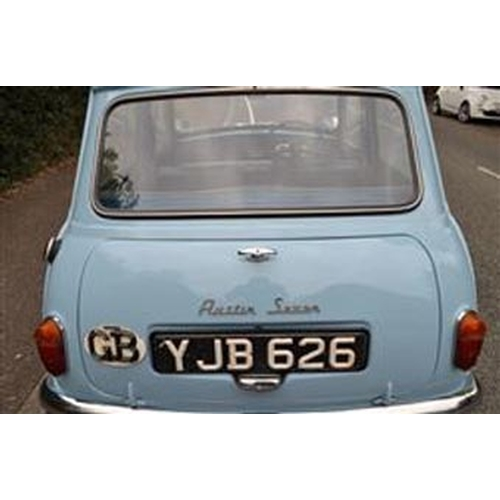 130 - 1961 AUSTIN SEVEN MINI REGISTRATION NO: YJB 626...