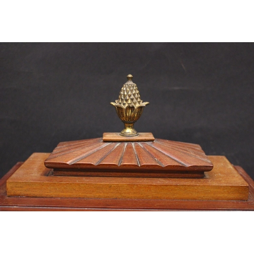31 - A VERY FINE REGENCY STYLE BRASS INLAID BRACKET CLOCK, with a gadrooned chamfer top, surmounted by a ...