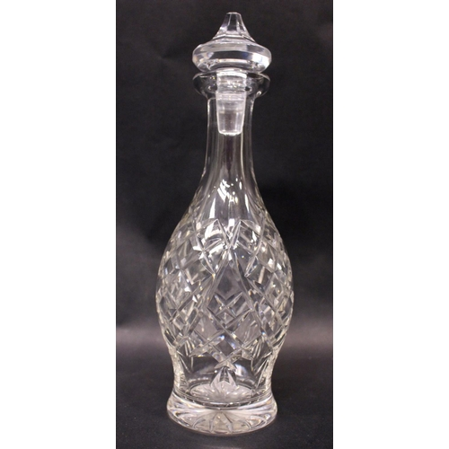 34 - TWO PIECES OF WATERFORD GLASS, (i) A lidded Waterford glass jar/bowl, (ii) A Waterford glass decante...