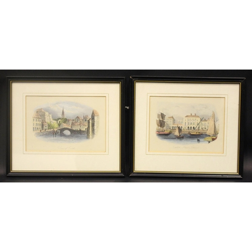 52 - A PAIR OF FRAMED PRINTS, (i) AN 18TH CENTURY VIEW OF ELIZABETH'S FORT & THE OLD ST. FINBARRS CORK, t...