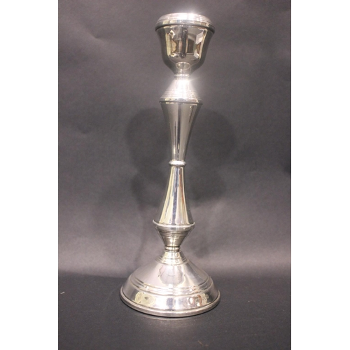 56 - A MIXED LOT OF SILVER ITEMS, includes, (i) A silver candle stick, Irish, date letter 'M' for 1978, m...