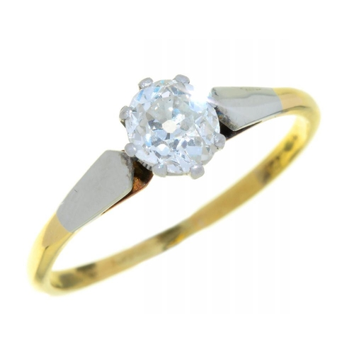 10 - <p> A DIAMOND SOLITAIRE RING the old cut diamond 0.75ct approx, G/H colour, VS clarity, in gold, 2g,...
