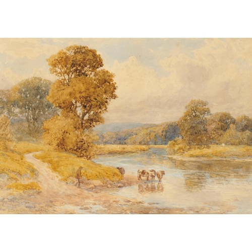 444 - <p>SHEDDEN  GOODRICH WILLIAMS  ROSCOE (1852-1922) LANDSCAPE WITH CATTLE signed, watercolour, 23 x 33...