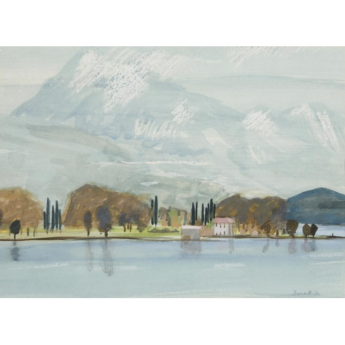 445 - <p>��DRUIE BOWETT  (1924-1998) GREECE FROM POROS signed and dated '72, signed and dated again and in...