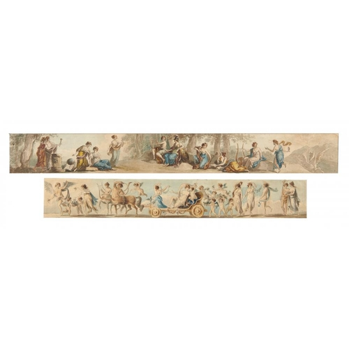 451 - <p>ATTRIBUTED TO WILLIAM HAMILTON, RA (1751-1801) CLASSICAL FIGURES; DESIGNS FOR A FRIEZE  pen, ink ...