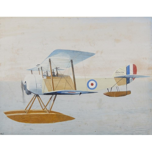 458 - <p>ENGLISH SCHOOL, EARLY 20TH CENTURY ORIGINAL ILLUSTRATIONS OF ROYAL AIR FORCE BI-PLANES  a set of ...