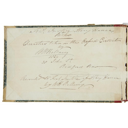 461 - <p>W H BELLAMY, 1824 SKETCH BOOK OF CHARACTERS TAKEN ON THE OXFORD CIRCUIT  head, bust or half lengt...