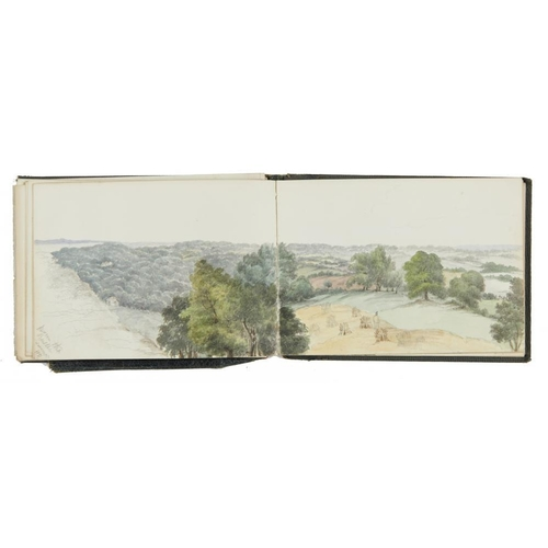 462 - <p>ENGLISH SCHOOL, 19TH CENTURY SKETCH BOOK OF WATERCOLOURS TAKEN IN THE SOUTH OF ENGLAND   includin...