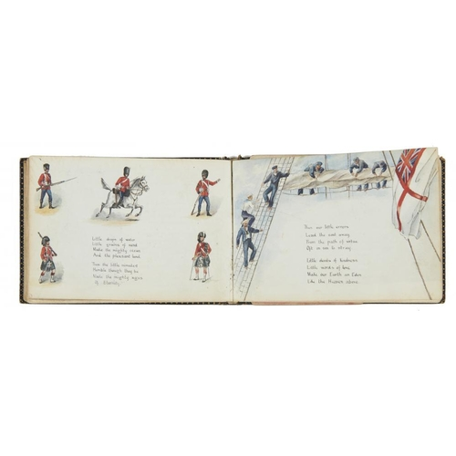 463 - <p>ENGLISH SCHOOL, 1887-92 ILLUSTRATED ALBUM OF HYMNS  by various hands, approx 54 illustrations and...