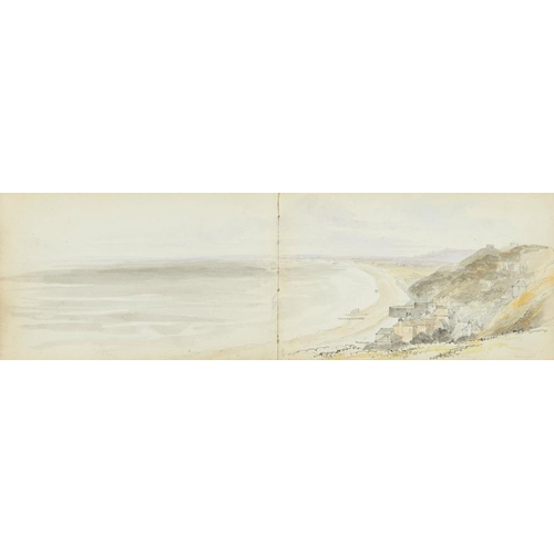 464 - <p>ATTRIBUTED TO MARIA EMMELINE DARWELL (B 1831) SKETCH BOOK OF VIEWS ON THE COAST ENGLISH VILLAGES ...
