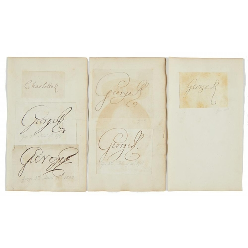 612 - <p>KING GEORGE II (1683-1760), KING GEORGE III (1738-1820) AND QUEEN CHARLOTTE (1744-1818) PIECES SI...