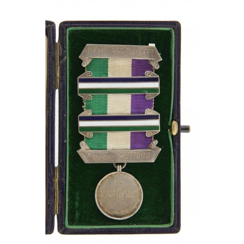 662 - <p>THE HIGHLY IMPORTANT WOMEN'S SOCIAL AND POLITICAL UNION MEDAL FOR VALOUR OF THE SUFFRAGETTE SELIN...