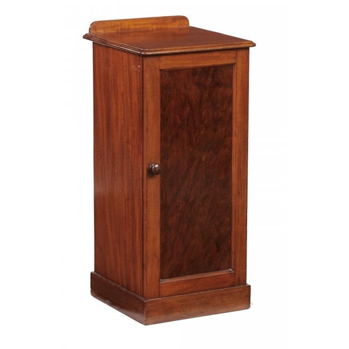 748 - <p>A VICTORIAN MAHOGANY POT CUPBOARD BY HOLLAND  & SONS, C1870  the mahogany backboard with ventilat...