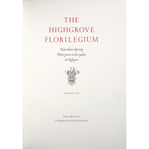 108 - <p>HRH THE PRINCE OF WALES</p><p>THE HIGHGROVE FLORILEGIUM WATERCOLOURS DEPICTING PLANTS GROWN IN TH...