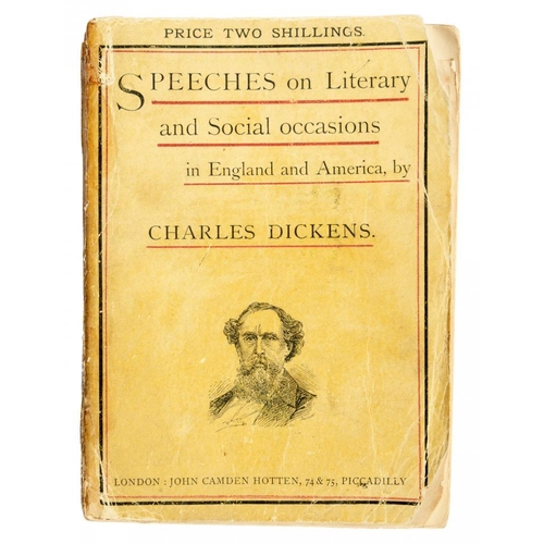 153 - <p>[A DICKENS COLLECTABLE IN THE RARE ORIGINAL PAPER COVER ]</p><p>DICKENS, CHARLES</p><p>SPEECHES O...