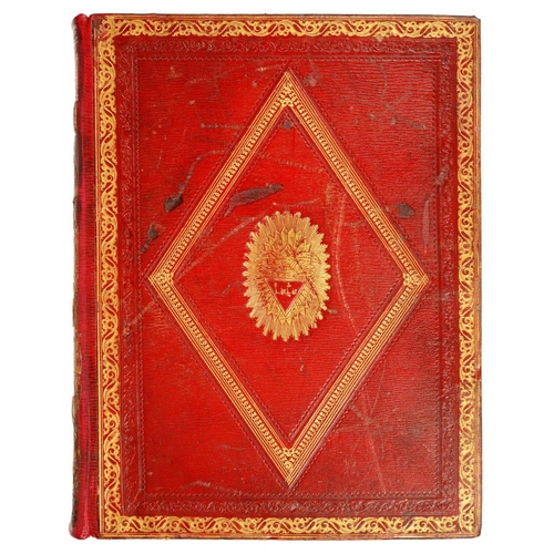 157 - <p>[FINE REGENCY BINDING] THE HOLY BIBLE.. WITH NOTES BY THE REV. ISAAC SAUNDERS </p><p>London, R Ed...