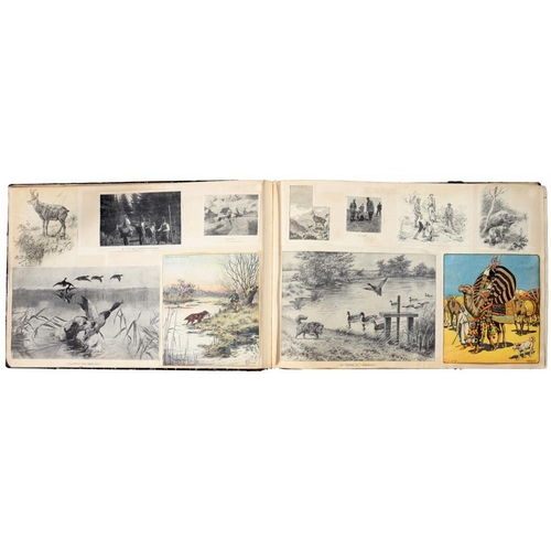240 - <p>[ LATE 19TH / EARLY 20TH CENTURY HUNTING SCRAPBOOK ]</p><p>A most unusual large oblong folio albu...
