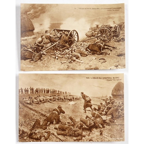 241 - <p>FIRST WORLD WAR POSTCARDS</p><p>A COLLECTION OF 21 FRENCH ARTIST-DRAWN POSTCARDS, DEPICTING VARIO...