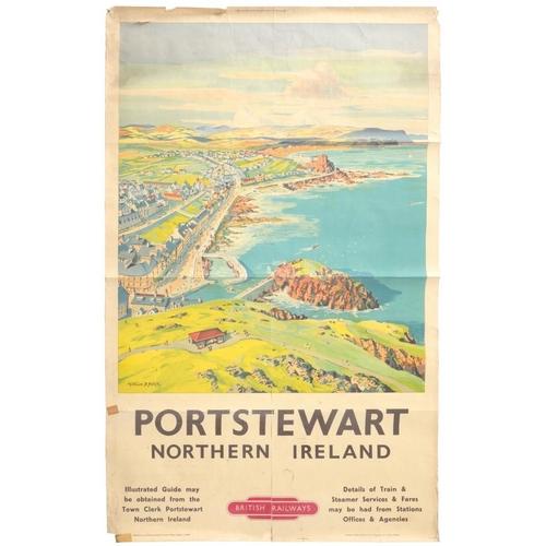 259 - <p>RAILWAY POSTERS.  MONTAGUE B BLACK, PORTSTEWART NORTHERN IRELAND FOR BRITISH RAILWAYS   100 x 63c...
