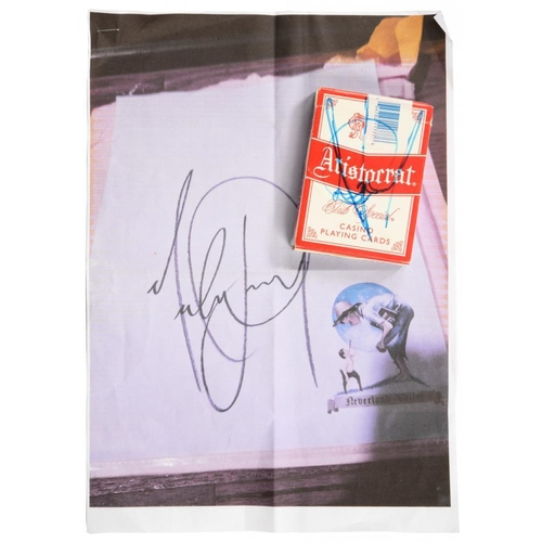 275 - <p>MICHAEL JACKSON</p><p>A SIGNED PACK OF ARISTOCRAT 'CLUB SPECIAL' PLAYING CARDS FROM THE MIRAGE CA...