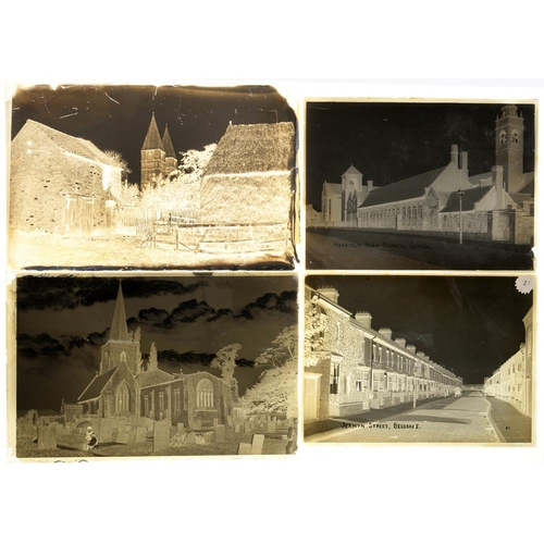 285 - <p>PHOTOGRAPHER UNKNOWN, C1880-1910 GLASS PLATE NEGATIVES OF LEICESTERSHIRE  including Belgrave, Thu...