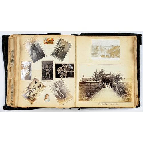 297 - <p>PHOTOGRAPHERS UNKNOWN, C1860 AN ALBUM OF PHOTOGRAPHS OF A FAMILY AND THE VILLAGES AND SCENERY ARO...