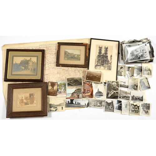 300 - <p>MISCELLANEOUS PHOTOGRAPHS, 19TH C AND LATER to include Victorian framed family photographs, World...