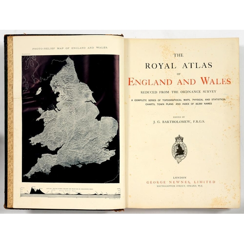 307 - <p>BARTHOLOMEW ( J G)  ROYAL ATLAS OF ENGLAND AND WALES REDUCED FROM THE ORDNANCE SURVEY, GEORGE NEW...