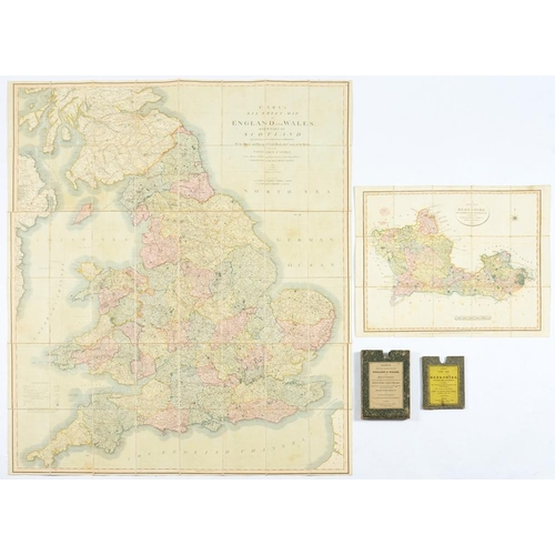 309 - <p>CARY (JOHN)  CARY'S SIX SHEET MAP OF ENGLAND AND WALES WITH PART OF SCOTLAND..., 1821 fully hand ...