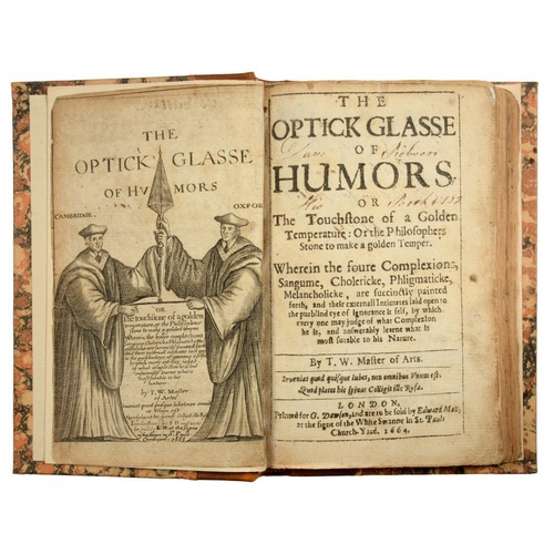 31 - <p>WALKINGTON, THOMAS</p><p>THE OPTICK GLASSE OF HUMORS</p><p>London, G Dawson, 1664. 8vo, additiona...