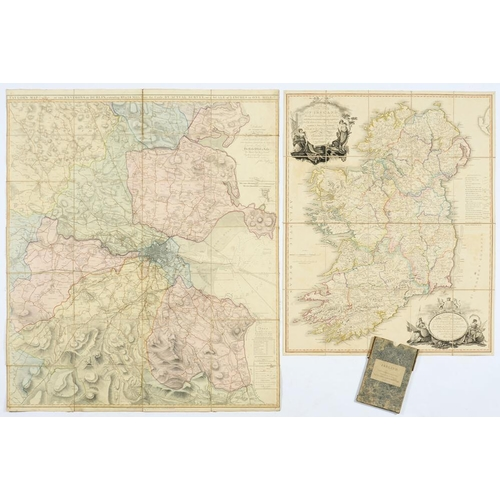 310 - <p>TAYLOR (ALEXANDER) LIEUT A NEW MAP OF IRELAND, 1793  hand coloured enquiry backed on linenm, 75 x...