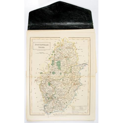 311 - <p>HALL (SYDNEY)  HALL'S TRAVELLING ATLAS ENGLISH COUNTIES, CHAPMAN & HALL, 1842 46 hand coloured do...
