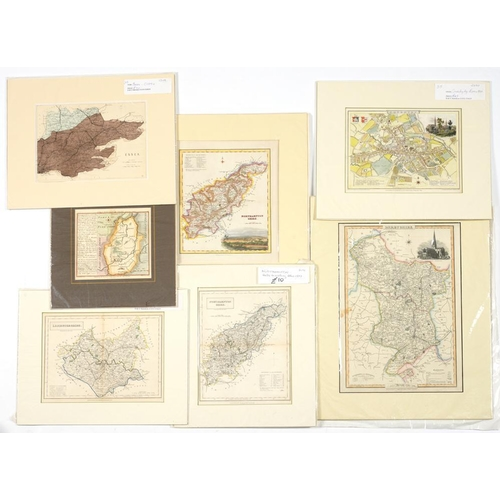 319 - <p>OWEN & BOWEN AND OTHER ENGLISH CARTOGRAPHERS TWELVE ENGLISH COUNTY AND ROAD MAPS  hand coloured e...