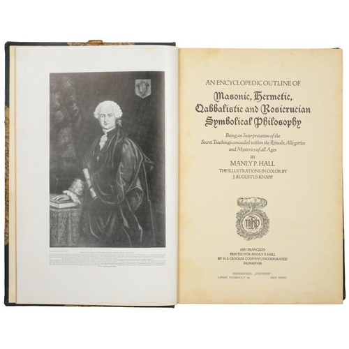 32 - <p>[OCCULT, MAGIC, SORCERY, ALCHEMY]</p><p>HALL, MANLEY P</p><p>AN ENCYCLOPEDIC OUTLINE OF MASONIC, ...