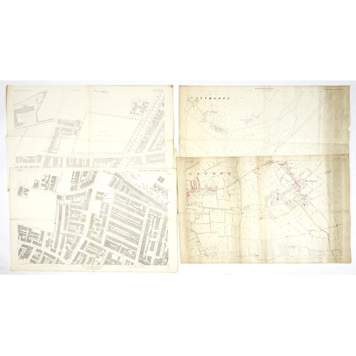 324 - <p>ORDNANCE SURVEY 1:2500 SCALE ENGRAVED PLANS OF NOTTINGHAM AND AREA, SECOND EDITION, 1901  various...