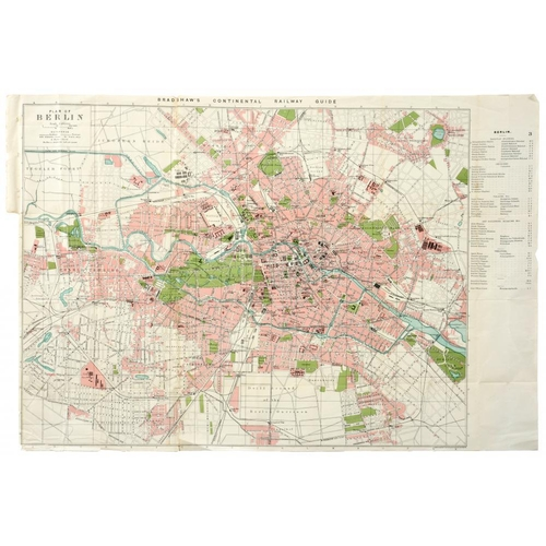 326 - <p>RAILWAY MAPS.  A SMALL COLLECTION OF TOWN AND CITY PLANS FROM BRADSHAW'S CONTINENTAL RAILWAY GUID...