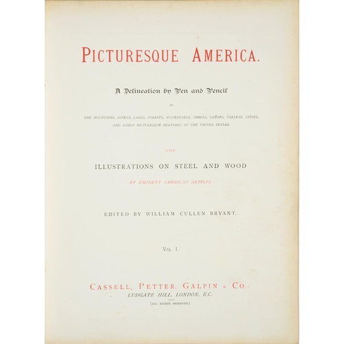 37 - <p>BRYANT, WILLIAM CULLEN</p><p>PICTURESQUE AMERICA. A DELINEATION BY PEN AND PENCIL OF THE MOUNTAIN...