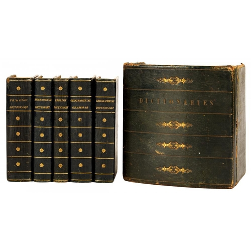 64 - <p>A BOXED SET OF LATE-18TH CENTURY DICTIONARIES</p><p>Comprising: French and English Dictionary (17...