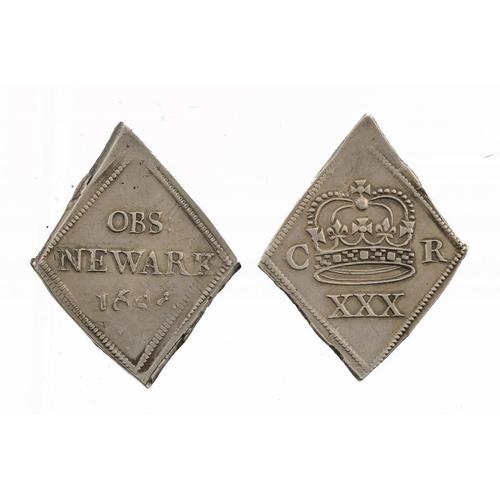 1114 - <p>CHARLES I, NEWARK, HALFCROWN, 1646, g-VF</p>...