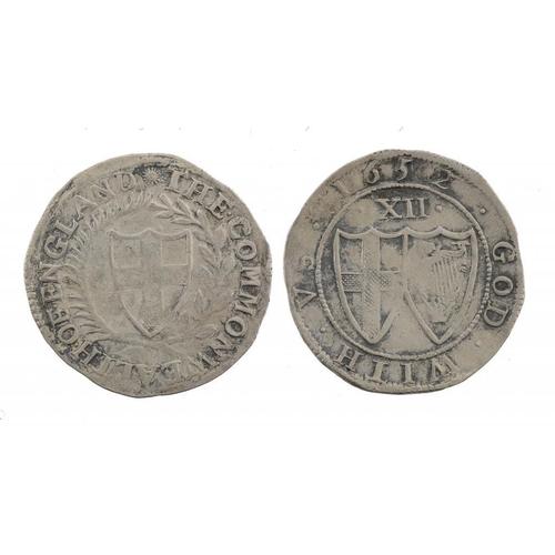 1120 - <p>COMMONWEALTH, SHILLING, 1652, 5.9gm, double struck, Fine-Very Fine</p>...