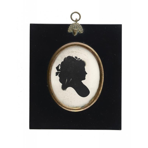 683 - <p>JOHN MIERS (C1758-1821) PORTRAIT OF A LADY PROBABLY OF THE SHAND FAMILY   painted on plaster, the...